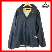 Chevignon Sport Jacket Coat XL Vintage Navy Blue Windbreaker Spell Out Lined