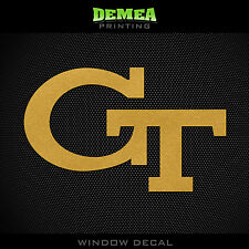Georgia Tech - Yellow Jackets - NCAA - Gold Vinyl Sticker Decal 5""