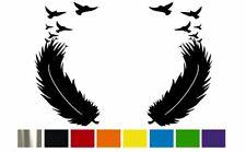 (2) BIRD FEATHER CUSTOM Vinyl Decal Set  - CUSTOM SIZE & COLOR for CARS,TRUCKS