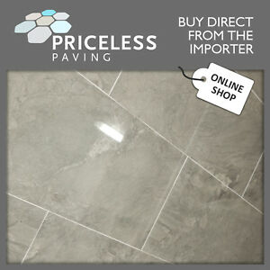 Marble Effect Porcelain Blue Grey Floor and Wall Tile 590x295x10mm PHARSALUS