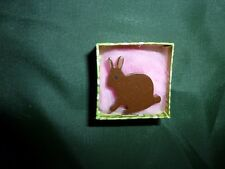 VINTAGE Brown Rabbit Brooch - NEW