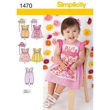La simplicité à coudre motif bébés robe rompre & Chapeau Taille XXS-L 1470