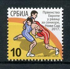 Serbia 2017 MNH Wrestling 1v Set Sports Stamps
