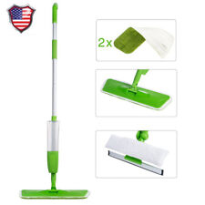 Upgraded Water Spray Flat Mop Floor Cleaner 360 Spin Head Dust Mop Replaceable