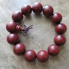 18mm Top Grade Tibetan Buddha Lobular Red Sandalwood Prayer Mala
