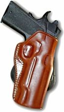 Leather OWB Paddle Holster Open Top Fits Colt 1911 M45 A1 45 ACP 5''BBL #1535#