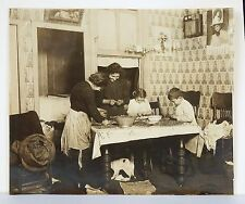 Lewis W Hine Gelatin Silver Print 1911 #2687 Immigrant Family Shelling Nuts