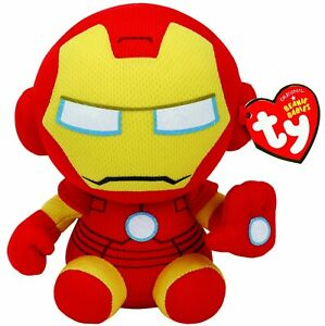 "TY BEANIE -IRON MAN  MARVEL  6"" plush Soft Toy 41190"
