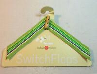 Lindsay Phillips SwitchFlops 7-8 Medium Interchangeable Straps Greens/Bamboo