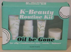 Glow Studio K-Beauty Routine Kit Oil be Gone for Oily/Combination Skin Green Tea