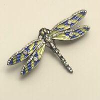 Unique Small Dragonfly  brooch pin enamel