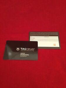 TAG HEUER WATCH WARRANTY CARD - Blank Undated - FACTORY DEALER STAMPED