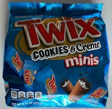 NEW TWIX COOKIES & CREME MINIS CHOCOLATE BARS 9.70 OZ FREE WORLDWIDE SHIPPING