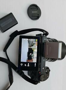 Sony Alpha NEX-5N 16.1MP Digital Camera - Black + E PZ 16-50mm F3.5-5.6 OSS lens