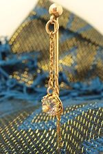 Victorian 9ct & 15ct Gold Amethyst & Pearl Stick / Tie / Lapel Pin. NICE1