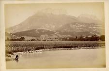 France, Annecy, Panorama Vintage Albumen Print Tirage albuminé  13x18  Cir