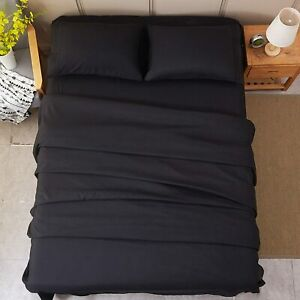 "Fitted Sheet Deep Pocket 14"" 1800 Series Microfiber Queen King Size Wrinkle Free"