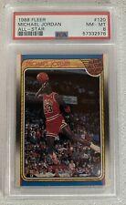 "1988 Fleer 120 All-Star Michael Jordan HOF PSA 8 NM-MT. ""Freshly Graded"""