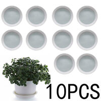 Round Flower Plastic Pot Bottom Trays Green Plant Base Water Drip Tray Saucers
