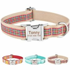 Adjustable Personalized Dog Collar Custom Engraved Pet ID Name Tags Male Female