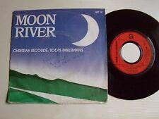 "CHRISTIAN ESCOUDE / TOOTS THIELEMANS Moon River - 7"" 45T 1983 promo JMS 2097 147"
