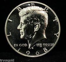 1968 Proof Kennedy Half Dollar 40% Silver GEM Cameo