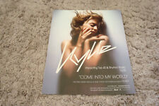 "Kylie Minogue promotional ad for hit ""Come Into My World"""
