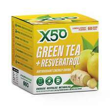 Tribeca Health - X50 Green Tea - Resveratrol Lemon and Ginger - 60 Serve