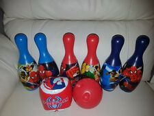 Marvel Spider-Man Bowling 6 Pins & Ball Set Fun Kids Activity Outdoor/Indoor Toy