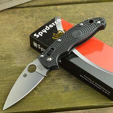Spyderco Manix 2 BD-1 Plain Edge Black FRCP Handle Folding Knife C101PBK2