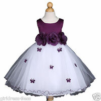 Butterfly Baby Infant Easter Wedding Flower Girl Dress 6M 12M 18M 24M 2 4 6 8 10