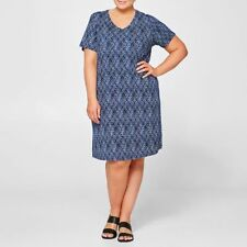 Plus Size Blue Light Weight and Stretchy Summer Dress Size 18 Knee Length
