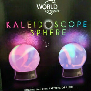 Kaleidoscope Sphere LED Mood Light-Rotating Hypnotic Light Show Colour Changing