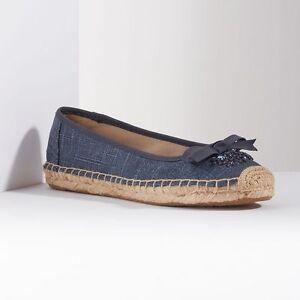 NWT Women's Simply Vera Vera Wang Mya Espadrille Flats Shoes Choose Size Denim