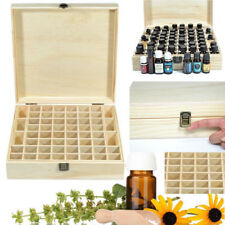 58 Slots Essential Oil Storage Box Wooden Case Container Aromatherapy Organizer