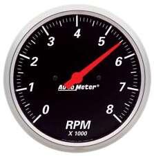 """Auto Meter 1499 Gauge Tachometer 5"""" 8k RPM In Dash Designer Black"""