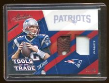 2017 ABSOLUTE TOM BRADY GAME USED FOOTBALL / JERSEY #D /49  RARE  PATRIOTS STAR