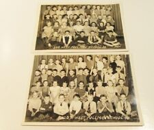 VINTAGE CHICAGO ELEMENTARY SCHOOL WEST PULLMAN CLASS PHOTOS 1940'S LOT OF 2 5X7