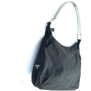 Prada Shoulder Bag Black Nylon Tessuto Authentic