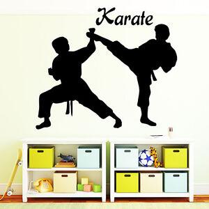 Wandtattoo Kinderzimmer Wandaufkleber Karate Karateka Karatekämpfer Kampf Sport
