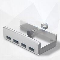 Usb Hub 3.0 charging hub clip aluminum alloy 4 ports portable size for laptoT kq