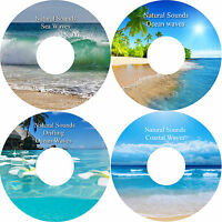 Sea Ocean Drifting Waves 4 CD's Relaxation Stress Anxiety Relief Healing Nature