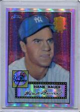 2002 Topps Chrome REFRACTOR Card Hank Bauer New York Yankees MINT # 52 R-19