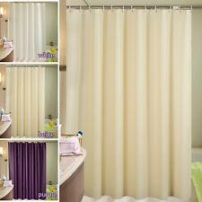 Rideau de douche bains tissu imperméable extra large/ long 12 crochets anneaux