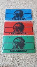Oklahoma Souvenir Plastic License Plates - Brand New in Package - Free Shipping!