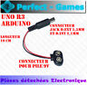 Câble connecteur adaptateur alimentation pile battery 9V arduino Jack UNO R3