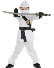 White Ninja Dragon Fighter Boys Fancy Dress Halloween Party Costume S