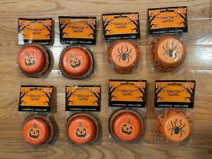 Wilton Halloween Cupcake Paper Baking Cups / Spider / Pumpkin - 75-ct - Lot of 8