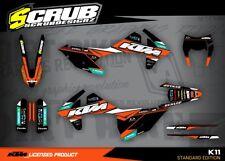 SCRUB  KTM EXC 125 250 300 450 500 2017 2018  '17 '18 Grafik Dekor-Set
