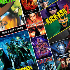 Best Comics movie posters A4 A3 HD Brillant Imprime Art Marvel Endgame Hellboy